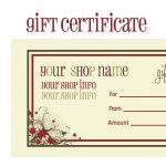 Printable+Christmas+Gift+Certificate+Template | Massage Certificate   Free Printable Gift Certificates