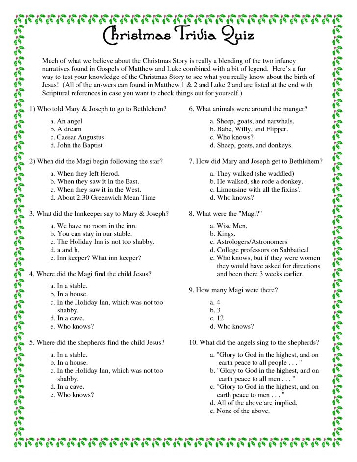 Free Bible Questions And Answers Printable