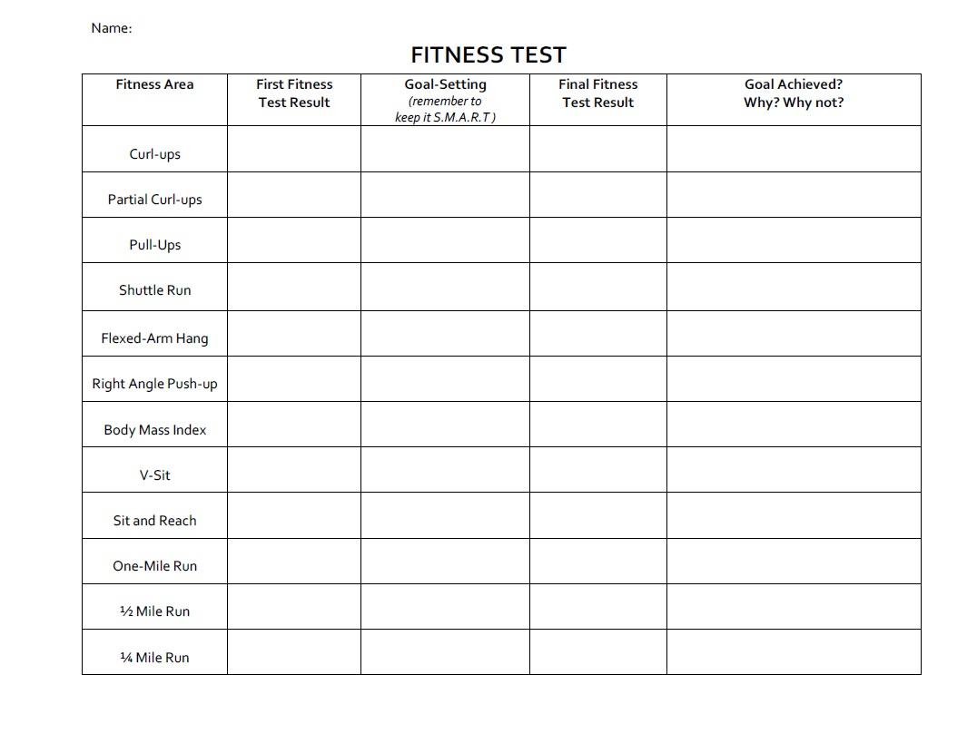 Printables. Fitness Goals Worksheet. Lemonlilyfestival Worksheets - Free Printable Fitness Worksheets