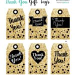 Printables Gift Tags Gold Glitter & Black | I ♥ Packaging + Wrap – Free Printable Thank You Tags For Birthdays
