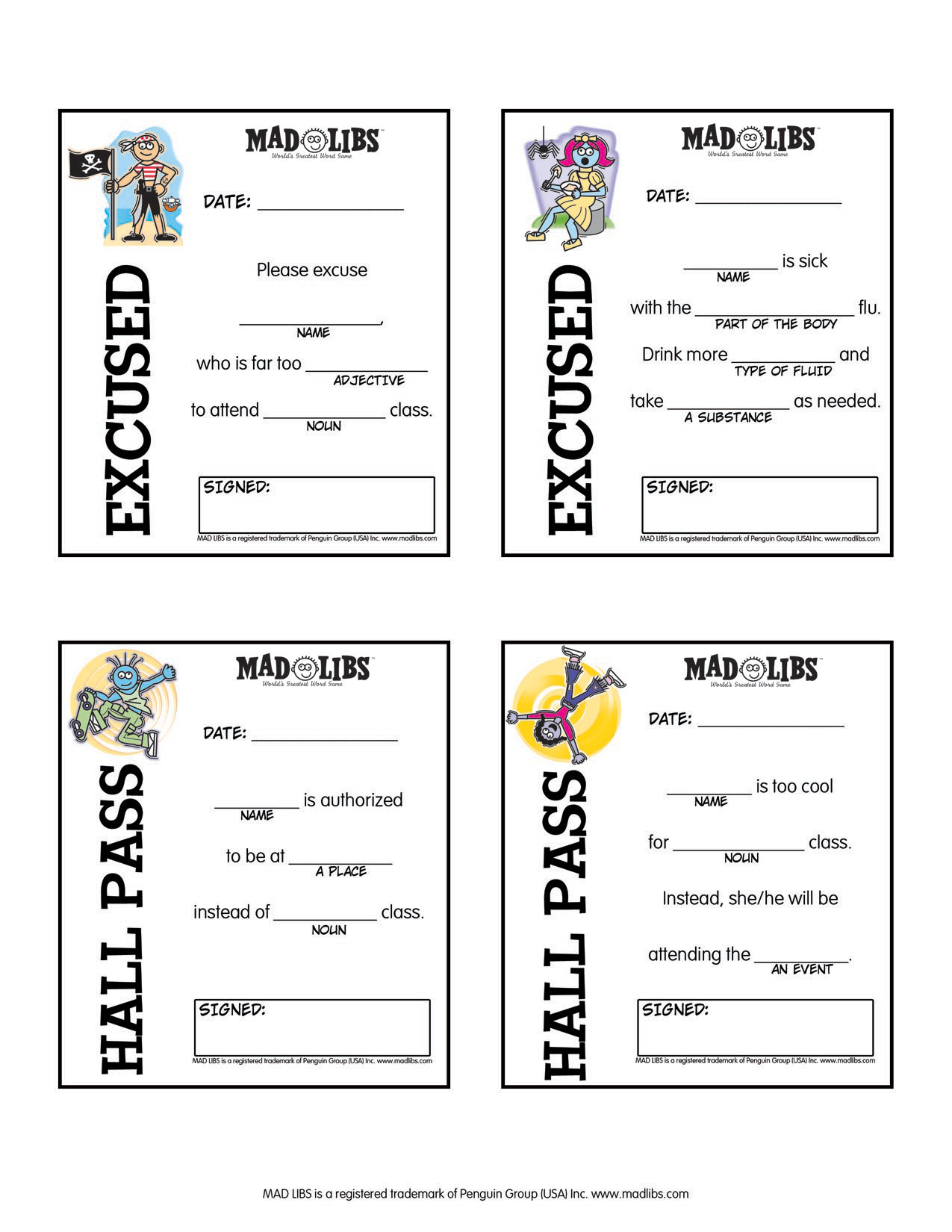 Printables – Mad Libs - Free Printable Mad Libs For Middle School Students