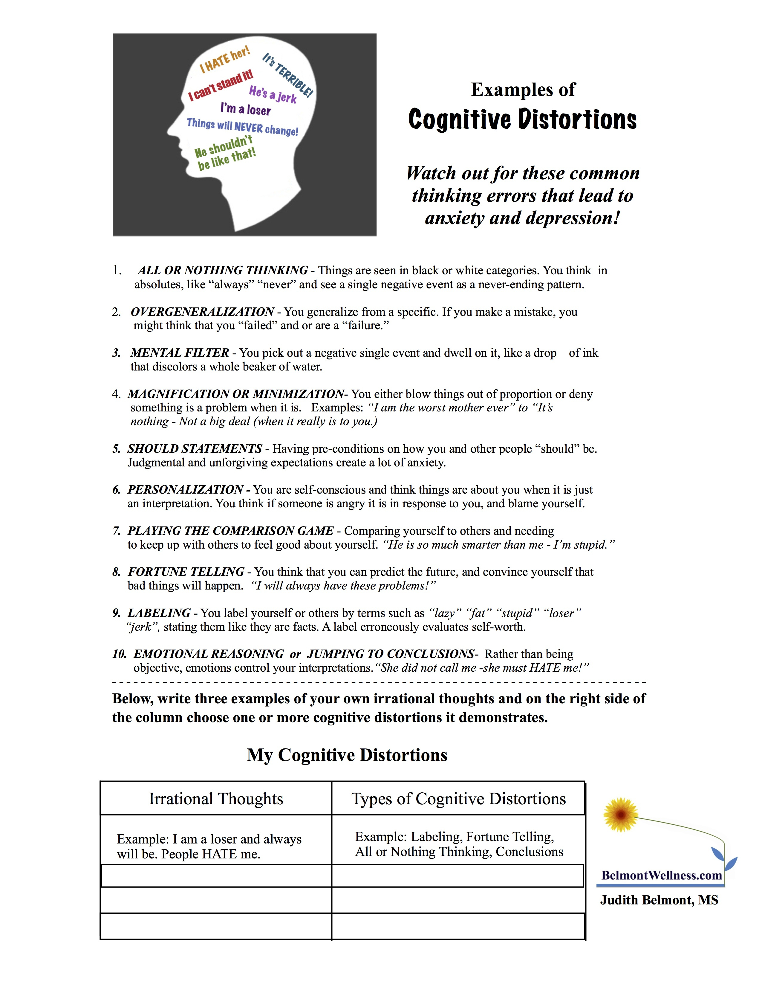 Psychoeducational Handouts, Quizzes And Group Activities | Judy - Free Printable Activities For Adults
