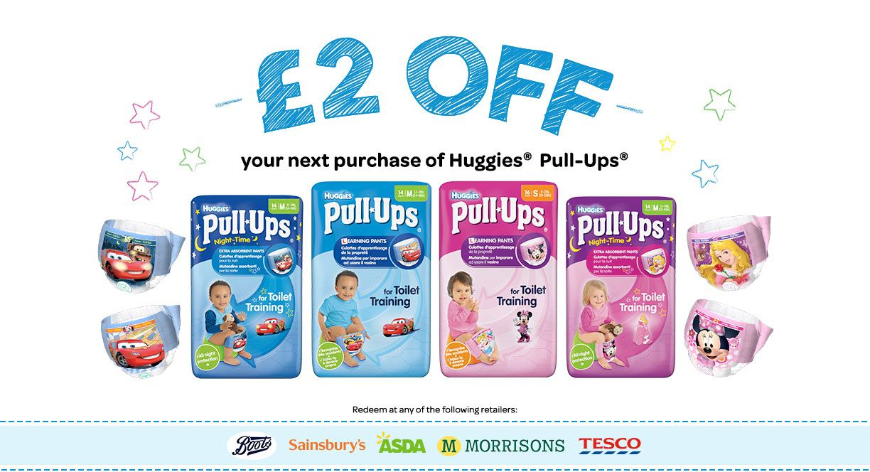 Pull-Ups Coupon 2 Pounds Money Off Supermarkets | Uk Coupons - Free Printable Coupons For Huggies Pull Ups
