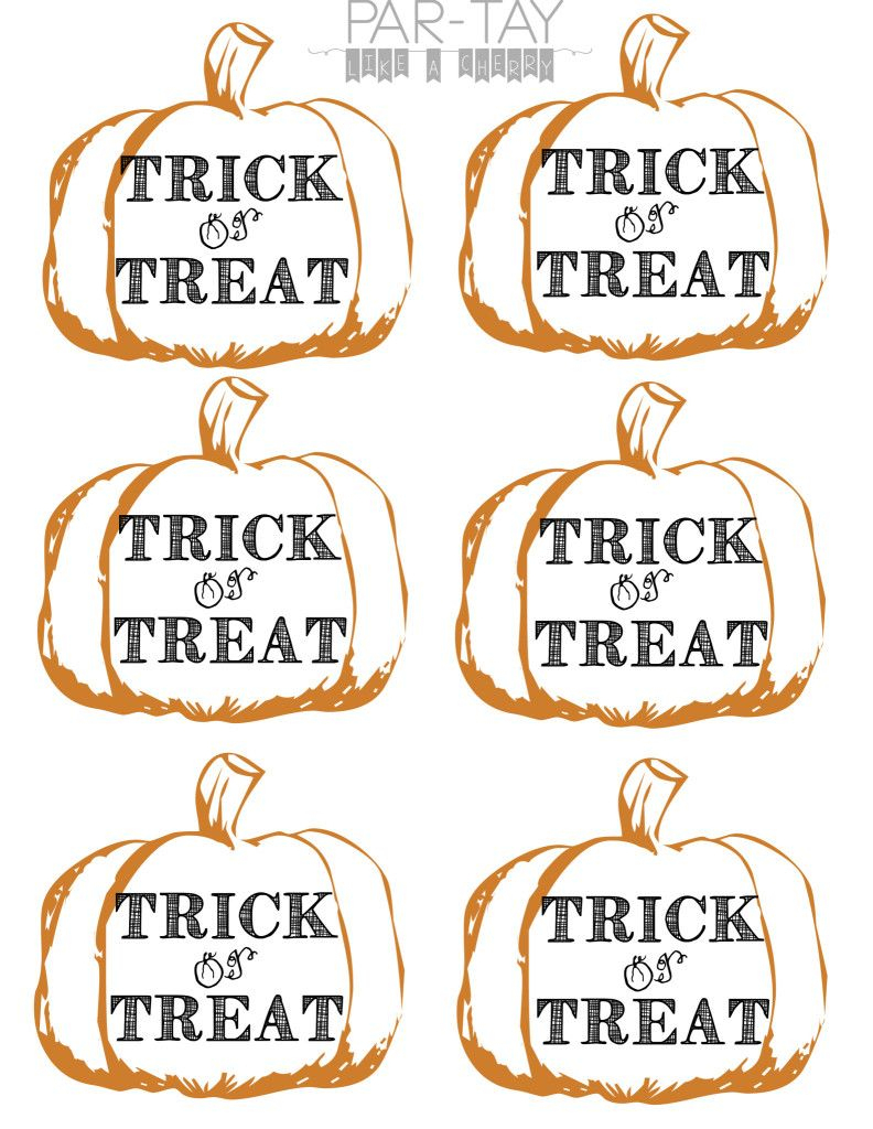 Pumpkin Tags Free Printable | Party Like A Cherry | Pinterest - Free Printable Trick Or Treat Bags