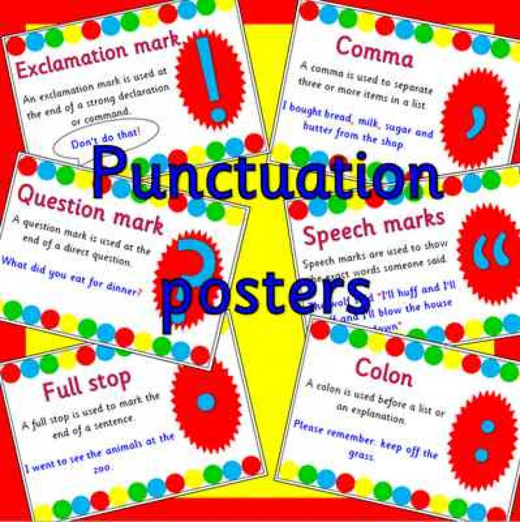 Punctuation Posters For Literacy And Phonics With Regard To - Punctuation Posters Printable Free