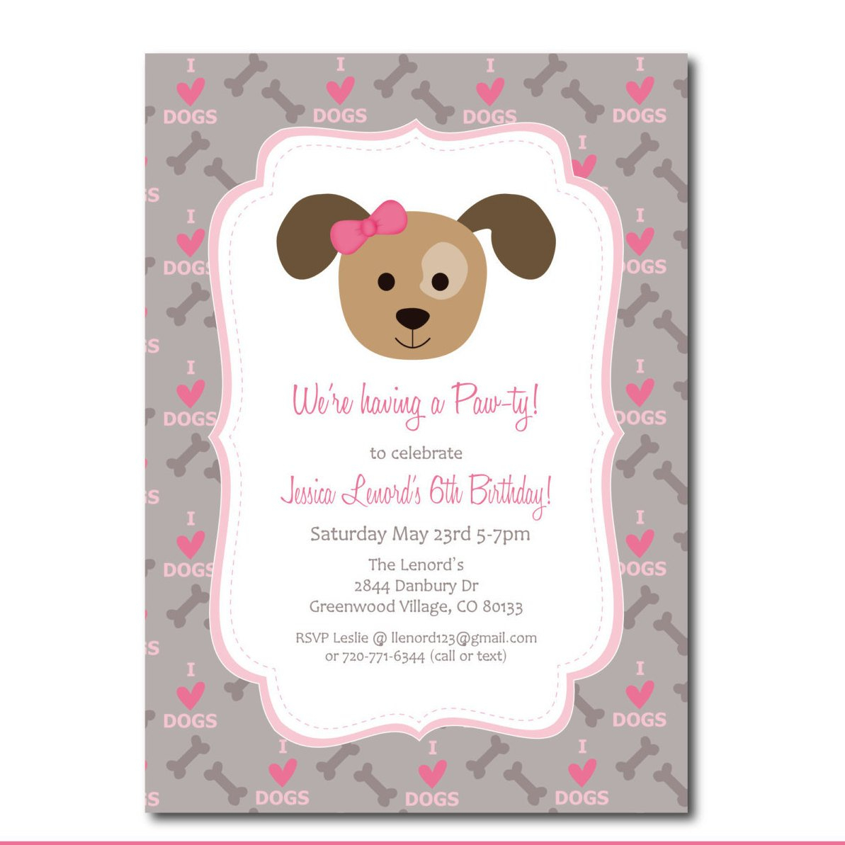 Puppy Shower Invitations Free Free Printable Puppy Shower Invitations - Dog Birthday Invitations Free Printable