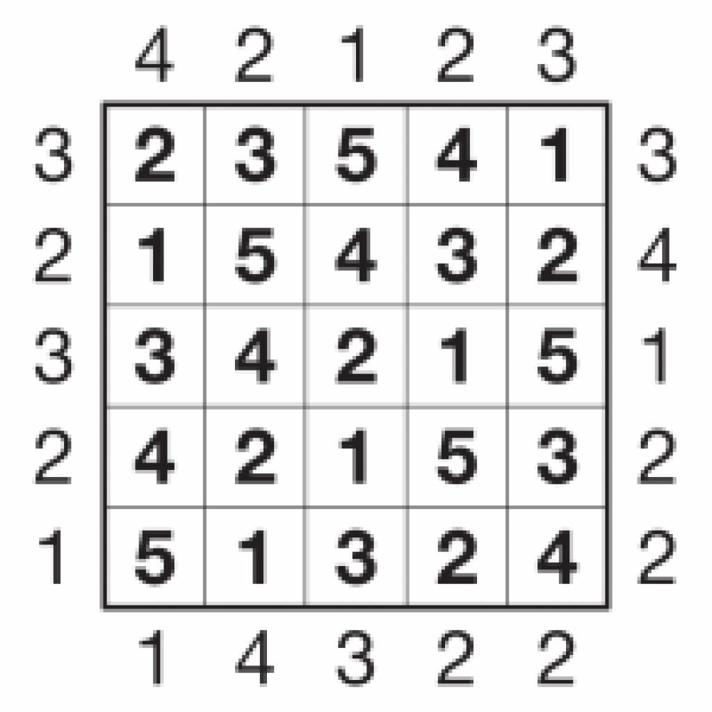 Puzzlemix: Skyscraper Instructions And Free Skyscraper Puzzles - Free Printable Skyscraper Puzzles