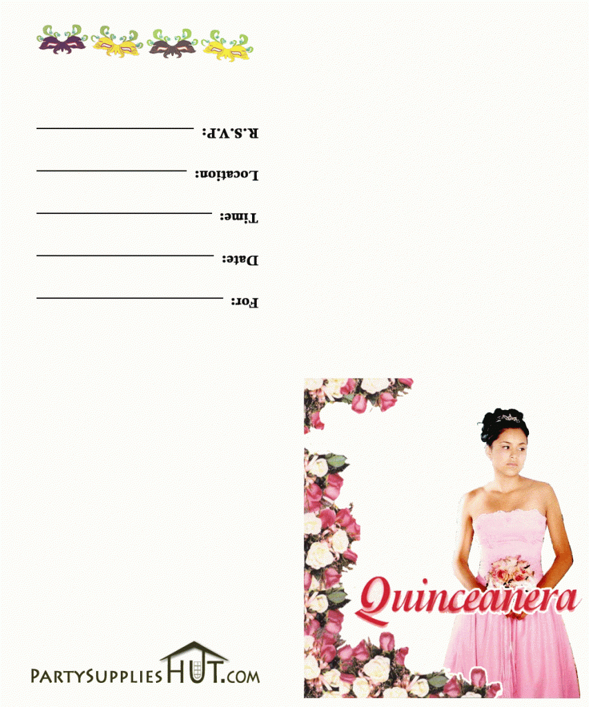 Quinceanera Cards Printable Invitation Reference Of Quinceanera - Free Printable Quinceanera Invitations