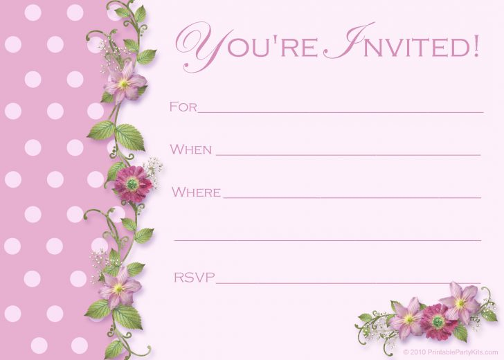 Free Printable Quinceanera Invitations