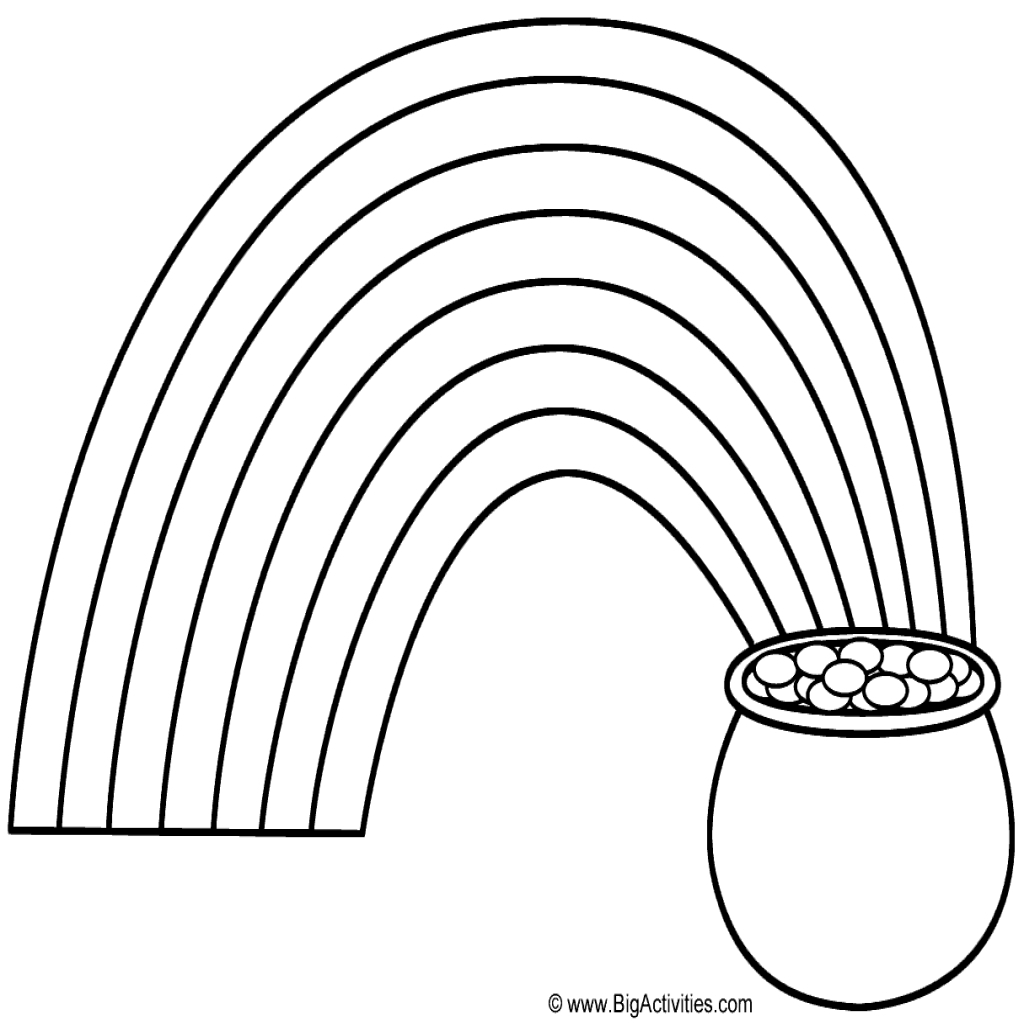 Rainbow Pot Of Gold Coloring Pages - Cleanstove - Free Printable Pot Of Gold Coloring Pages