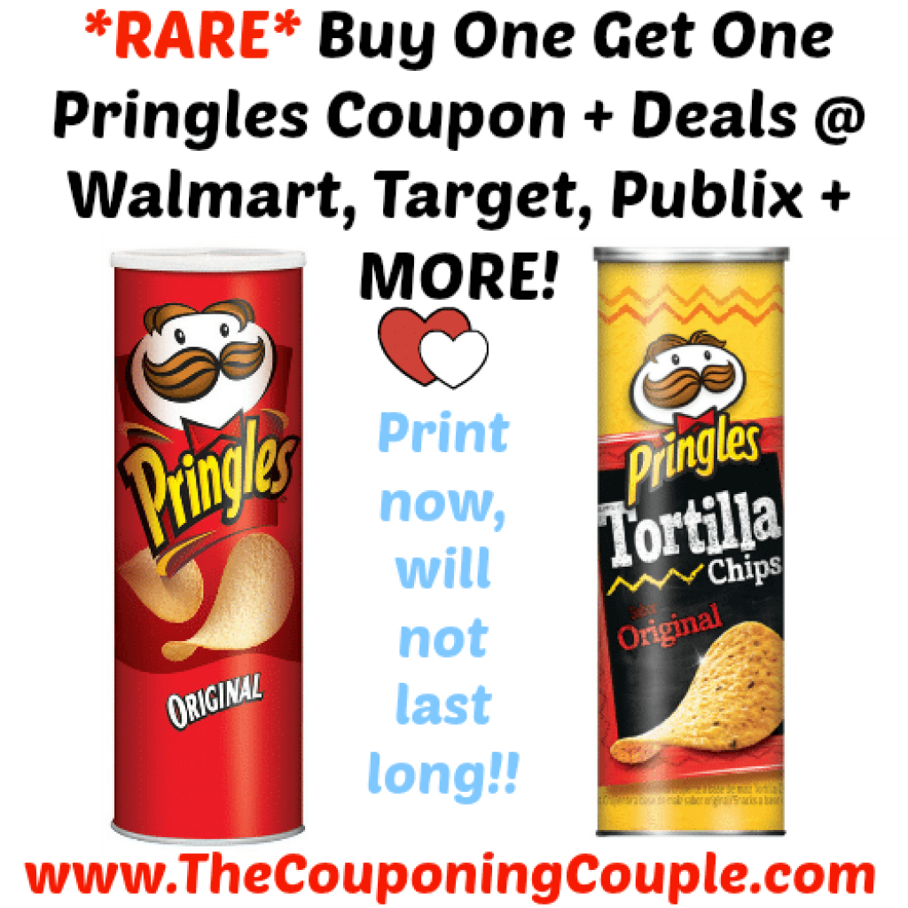 Rare Buy One Get One Pringles Coupon + Deals @ Walmart, Target - Free Printable Pringles Coupons
