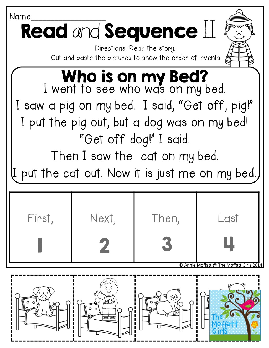 Read And Sequence The Simple Story! Cut And Past The Pictures In - Free Printable Sequencing Worksheets 2Nd Grade