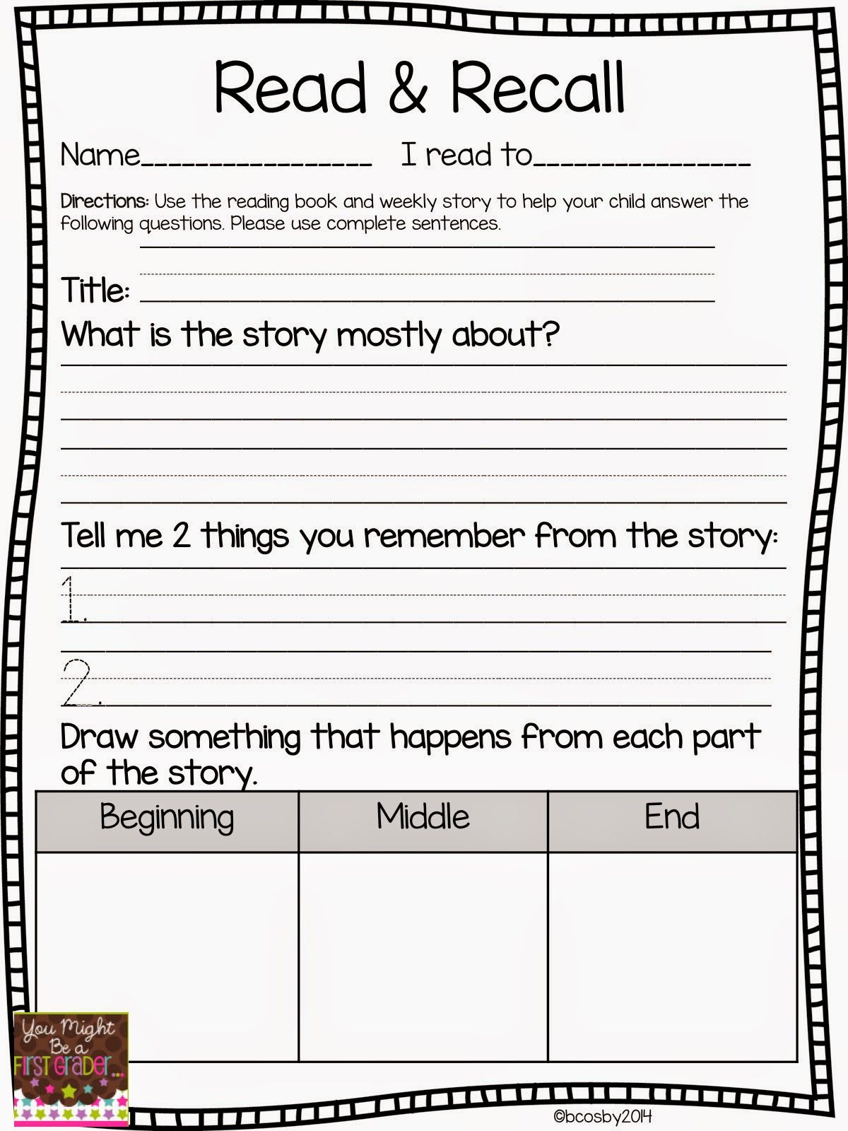 Reading Comprehension | Classroom Freebies! | Reading Comprehension - Free Printable Reading Games For 2Nd Graders