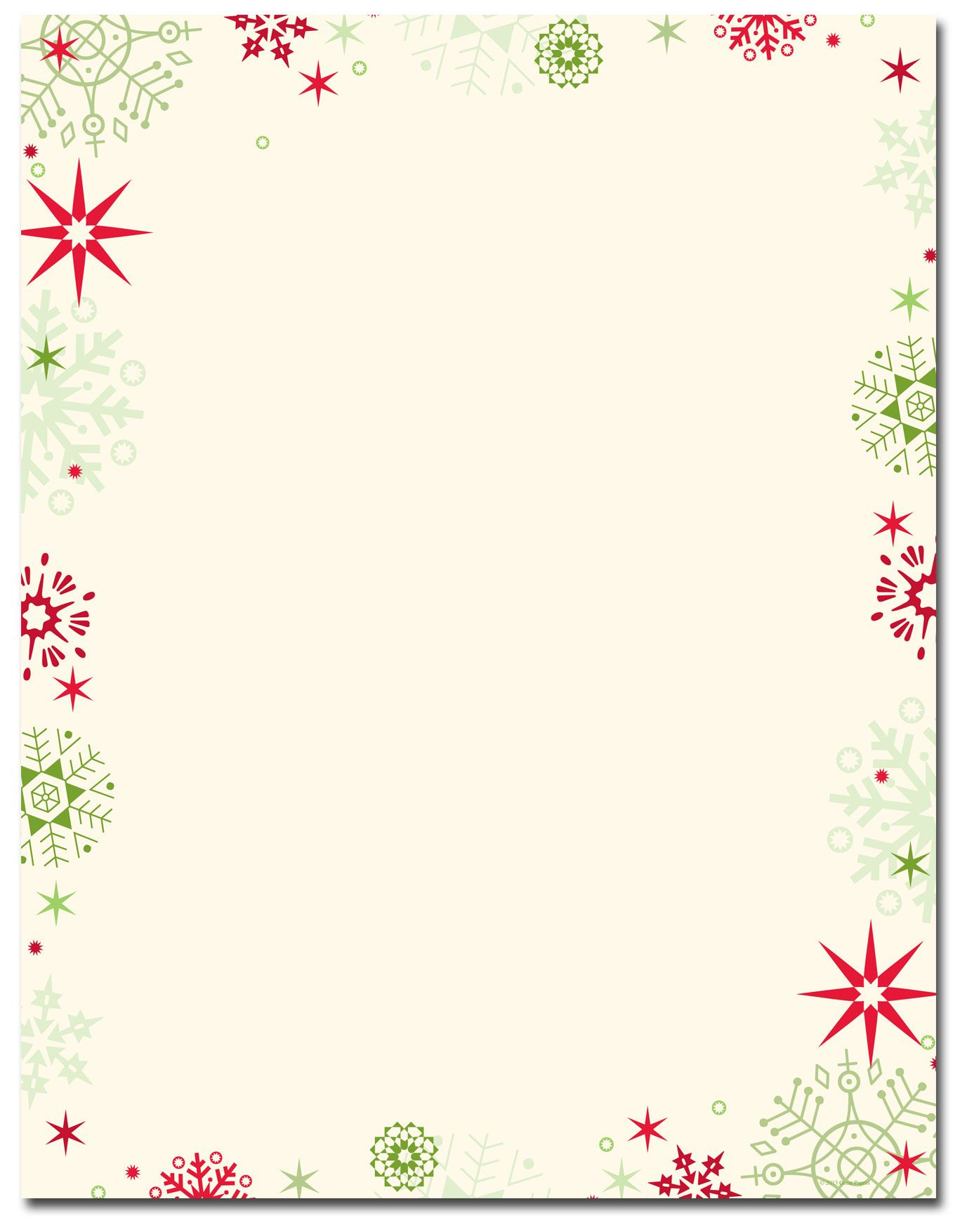 Red & Green Flakes Letterhead | Holiday Papers | Pinterest - Free Printable Letterhead Borders
