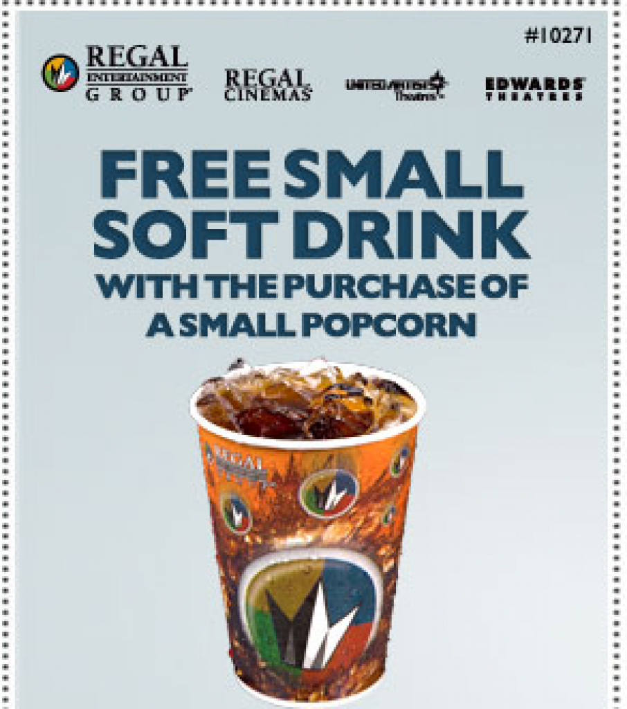 Regal Theaters: Free Small Drink With Small Popcorn Purchase Coupon - Regal Cinema Free Popcorn Printable Coupons