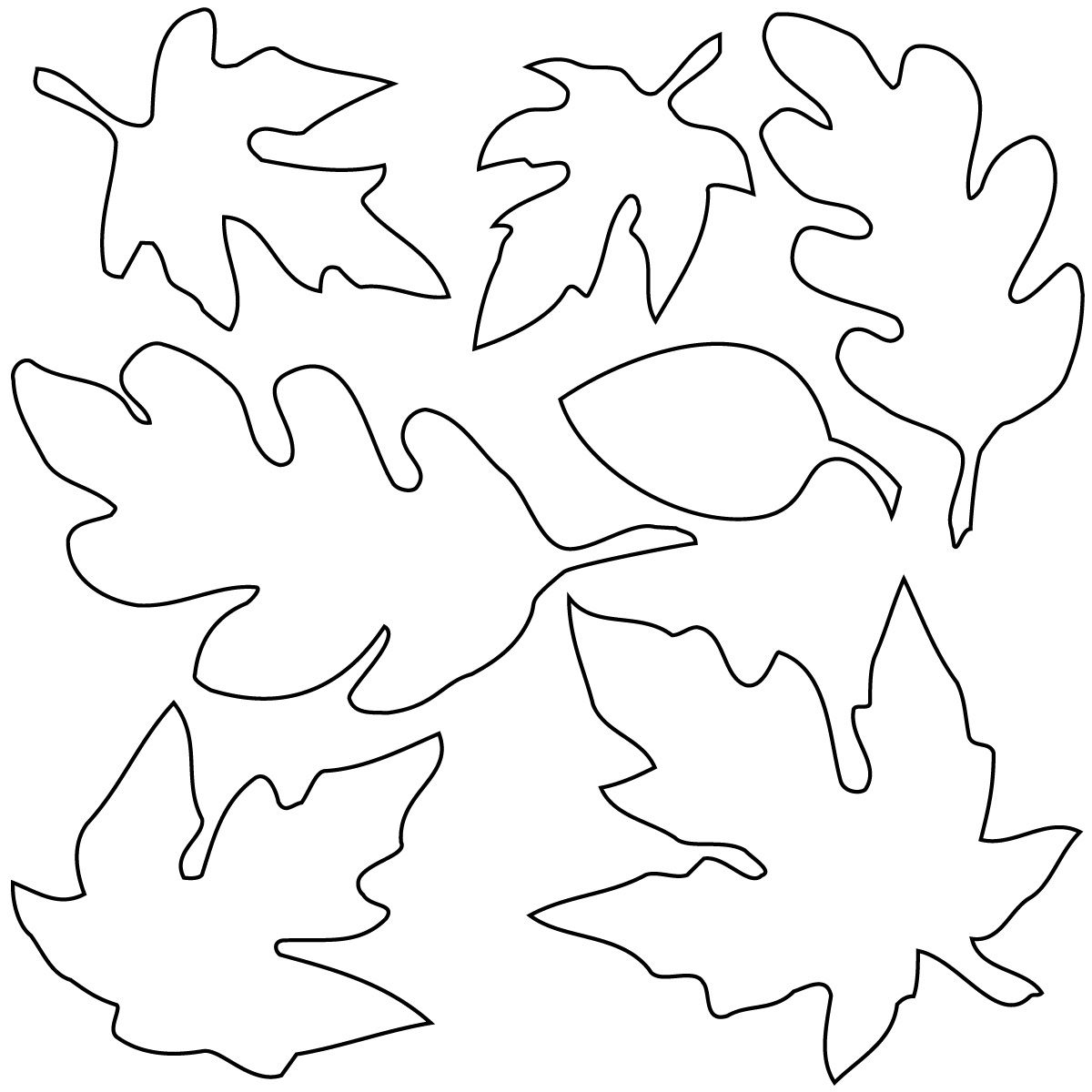 Related Leaf Coloring Pages Item-13080, Leaf Coloring Pages Fall - Free Printable Fall Leaves Coloring Pages