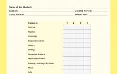 Report Card Template Free | Tbok.tk – Free Printable Kindergarten Report Cards