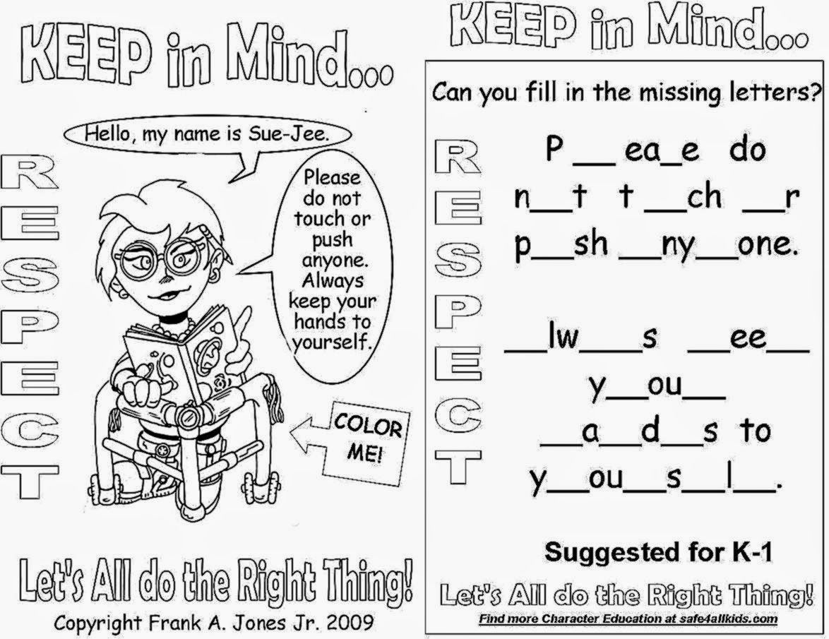 Respect Coloring Pages Coloringpages Funkidts | School Ideas - Free Printable Coloring Pages On Respect