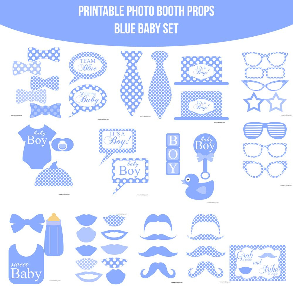 Résultats De Recherche D'images Pour « Free Printable Baby Shower - Free Printable Boy Baby Shower Photo Booth Props