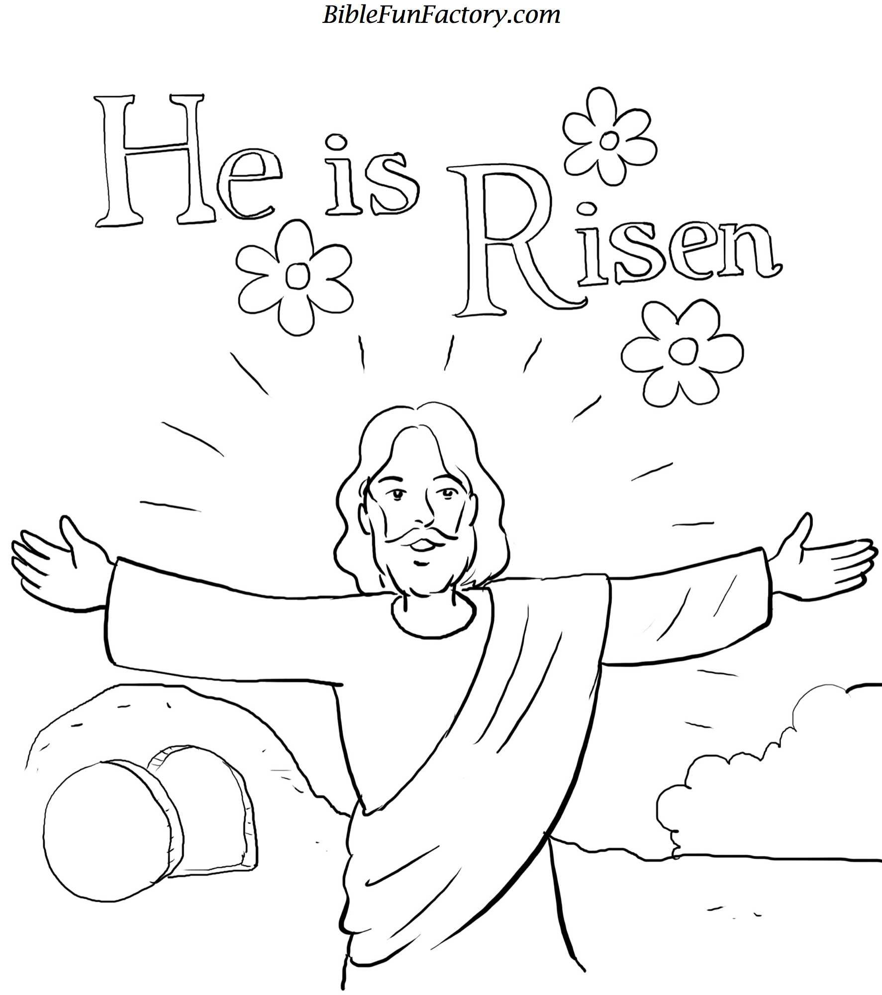 Resurrection Coloring Pages Free | Easter Coloring Sheet | Easter - Free Printable Easter Colouring Sheets