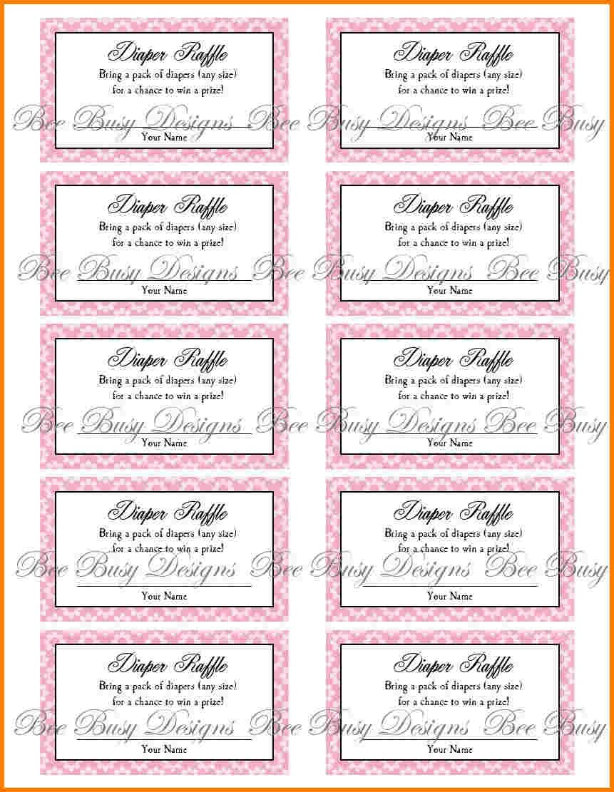 Review Free Printable Diaper Raffle Tickets For Baby Shower - Ideas - Free Printable Diaper Raffle Tickets