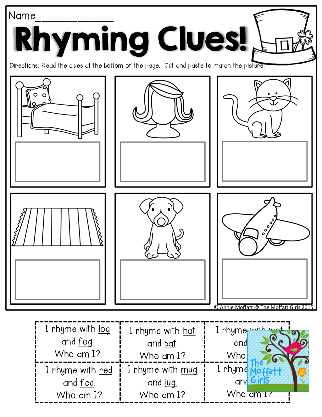 Rhyming Clues! Such A Fun And Effective Way To Read And Rhyme! Tons - Free Printable Rhyming Activities For Kindergarten