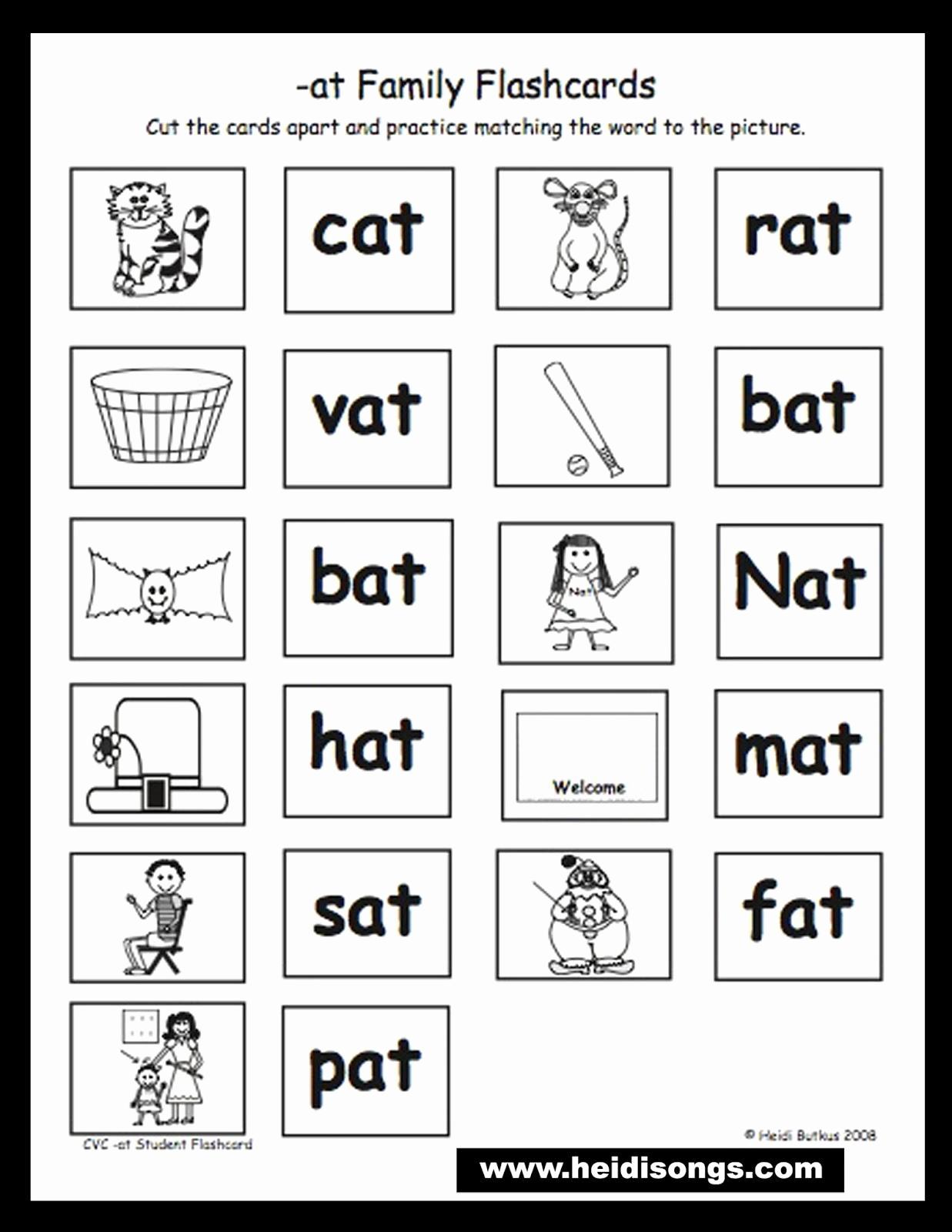 Rhyming Words Worksheet Kindergarten Math Printable Activities - Free Printable Rhyming Words Flash Cards
