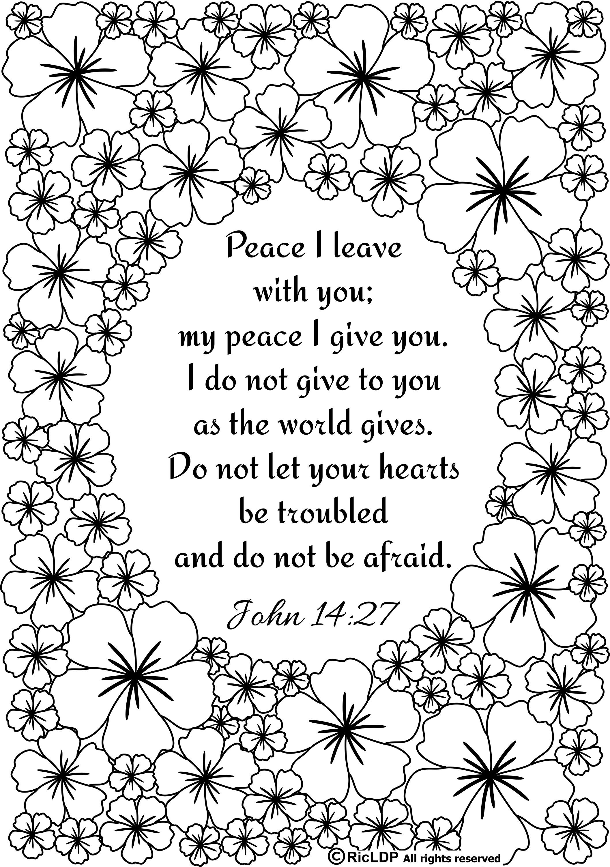 Ricldp Artworks (Ricldp) | Coloring Pages!!! | Pinterest | Bible - Free Printable Bible Coloring Pages With Verses