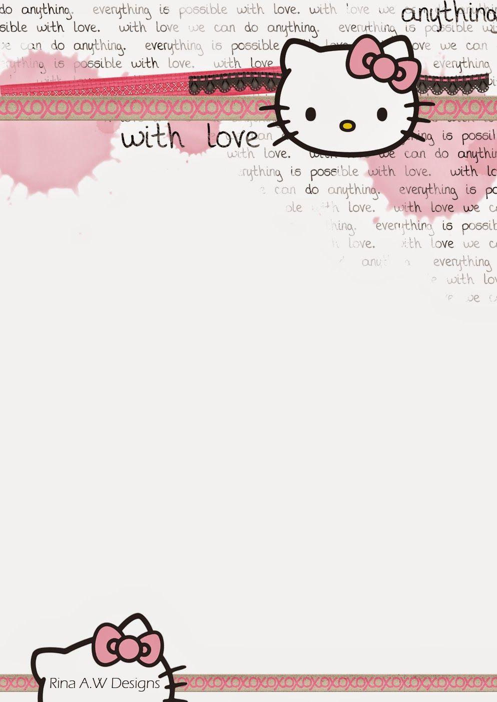 Rina Loves: Hello Kitty Free Printables | Stationary - Free Printable Hello Kitty Stationery
