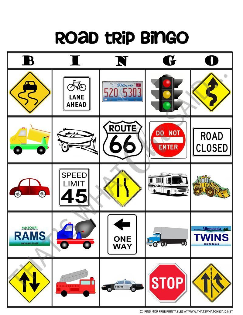 Road Trip Bingo Free Printables   Car Ride Activities   Pinterest - Free Printable Car Bingo