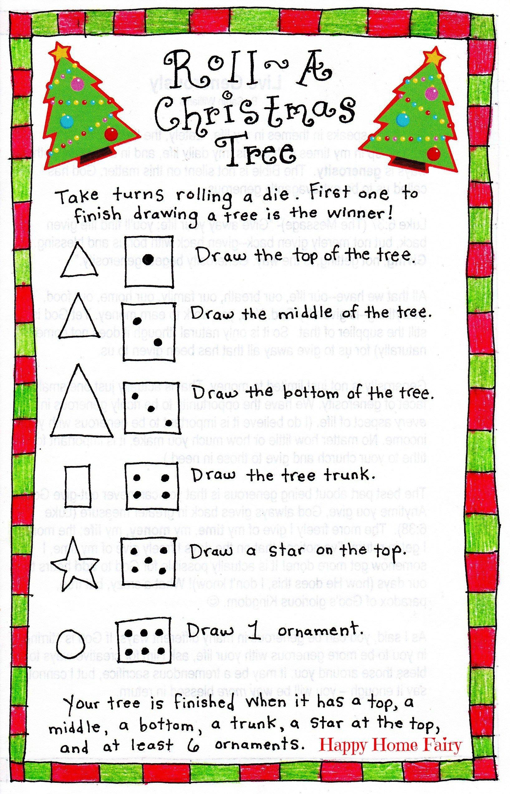 Roll-A-Christmas-Tree Game – Free Printable! | Christmas | Pinterest - Free Printable Christmas Puzzle Games