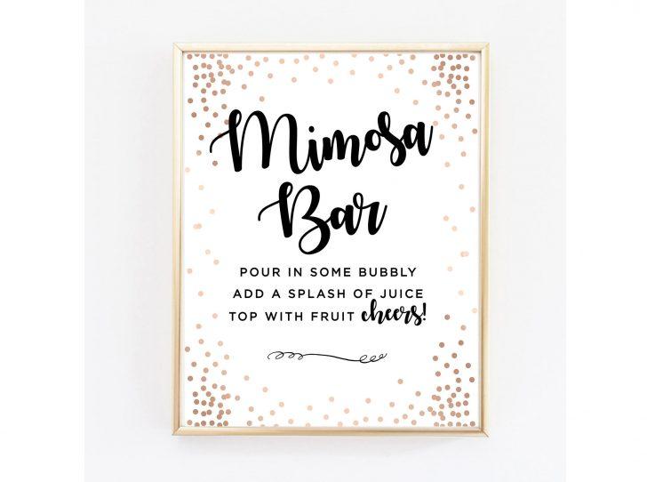 Free Printable Mimosa Bar Sign
