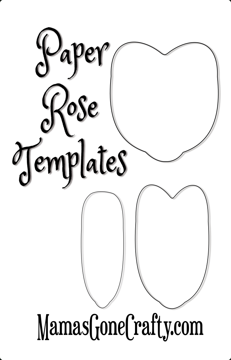 Rose Petal Printable Templates | Paper Crafts | Paper Flowers, Paper - Free Paper Flower Templates Printable