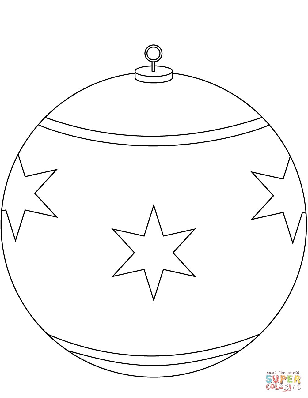 Round Christmas Ornament Coloring Page | Free Printable Coloring Pages - Free Printable Christmas Ornament Coloring Pages