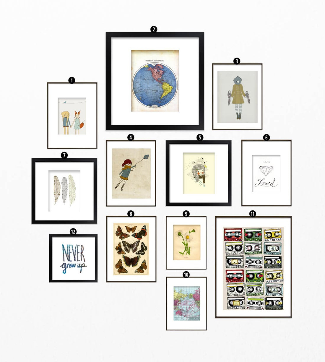 Roundup: Free Printables For Gallery Walls • Little Gold Pixel - Free Printable Art