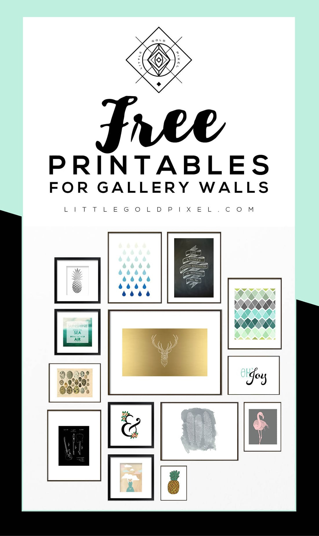 Roundup: Free Printables For Gallery Walls • Little Gold Pixel - Free Printable Wall Posters