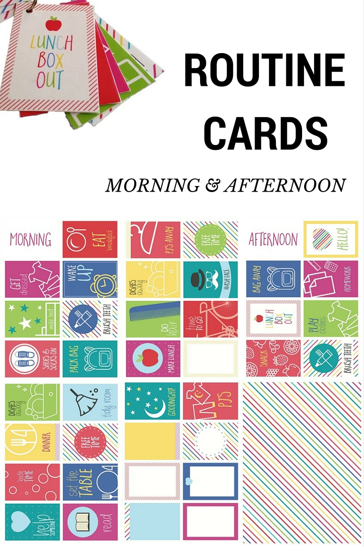 Routine Cards – Morning And Afternoon – Be A Fun Mum - Free Printable Daily Routine Picture Cards