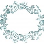 Royalty Free Images   Rose Wreaths   Embroidery Pattern   The   Free Printable Embroidery Patterns