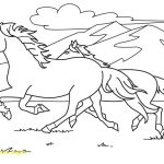 Running Horse Coloring Pages | Scagraduatecouncil   Free Printable Horse Coloring Pages