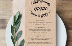 Free Printable Menu Templates