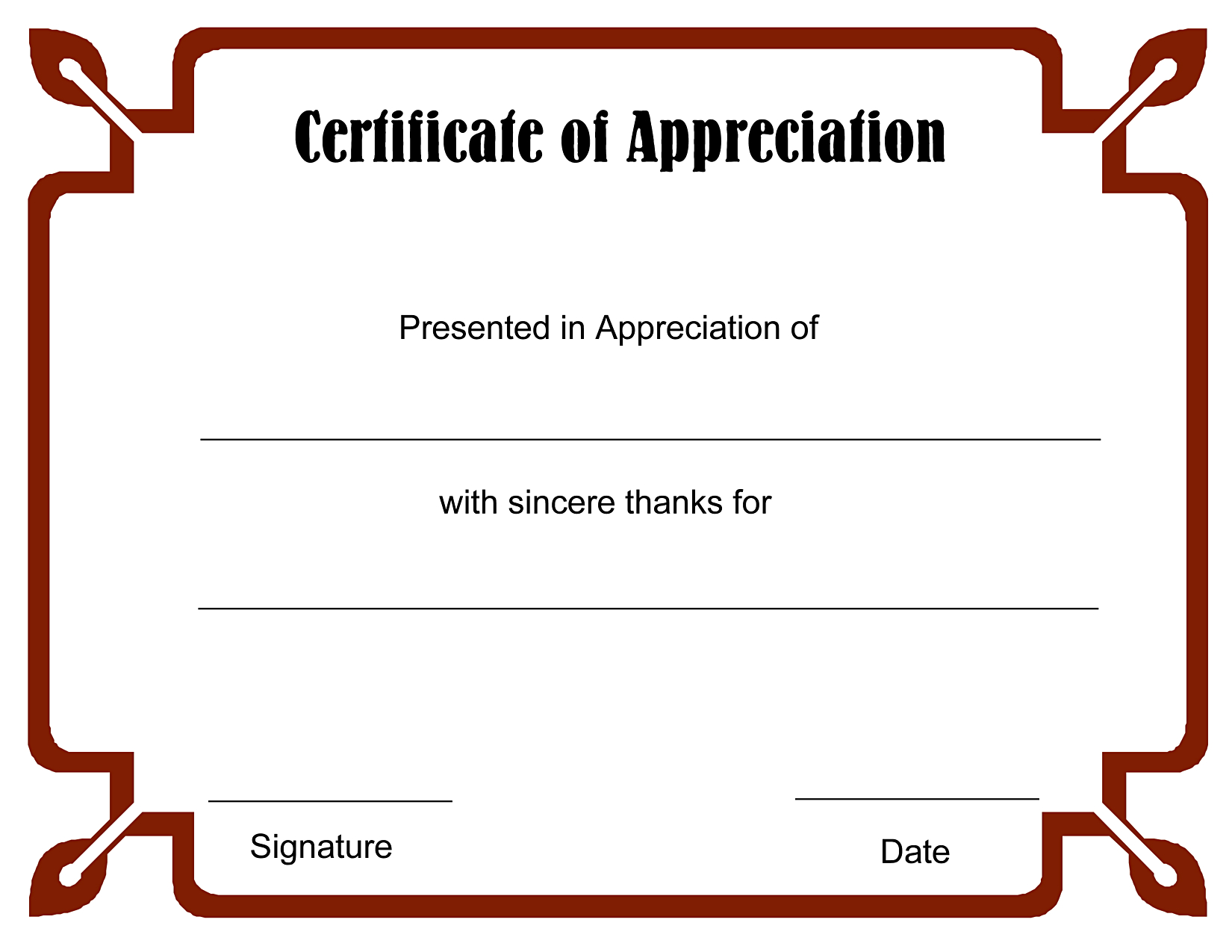 Sample Blank Certificate Of Recognition Copy New Appreciation - Free Printable Templates For Certificates Of Recognition
