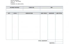 Free Printable Blank Invoice Sheet
