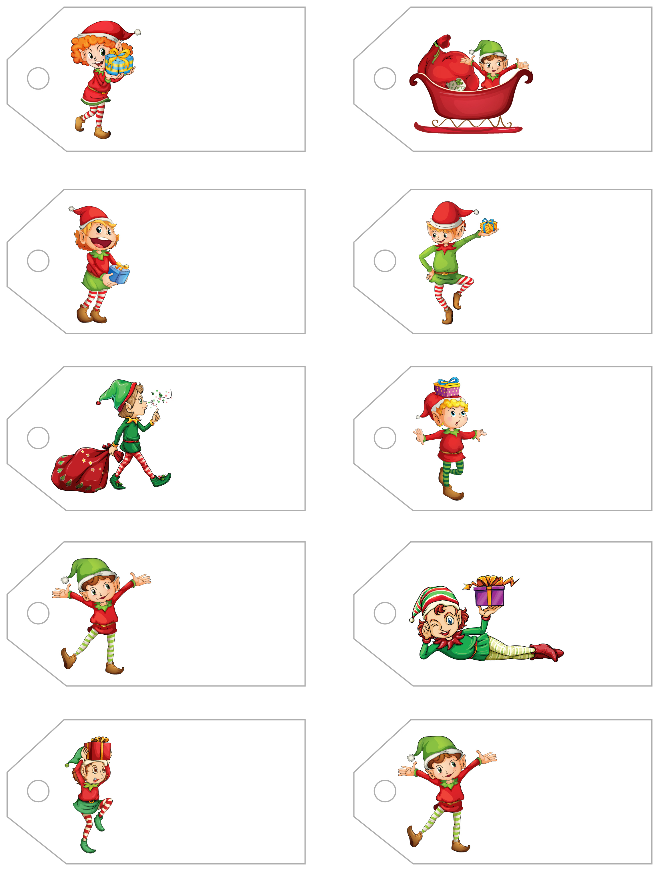 Santa's Little Gift To You! Free Printable Gift Tags And Labels - Free Printable Christmas Gift Tags