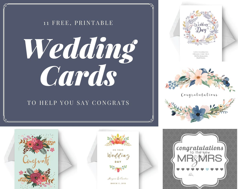 Say Congrats With A Free, Printable Wedding Card   Let's Have A - Free Printable Wedding Maps
