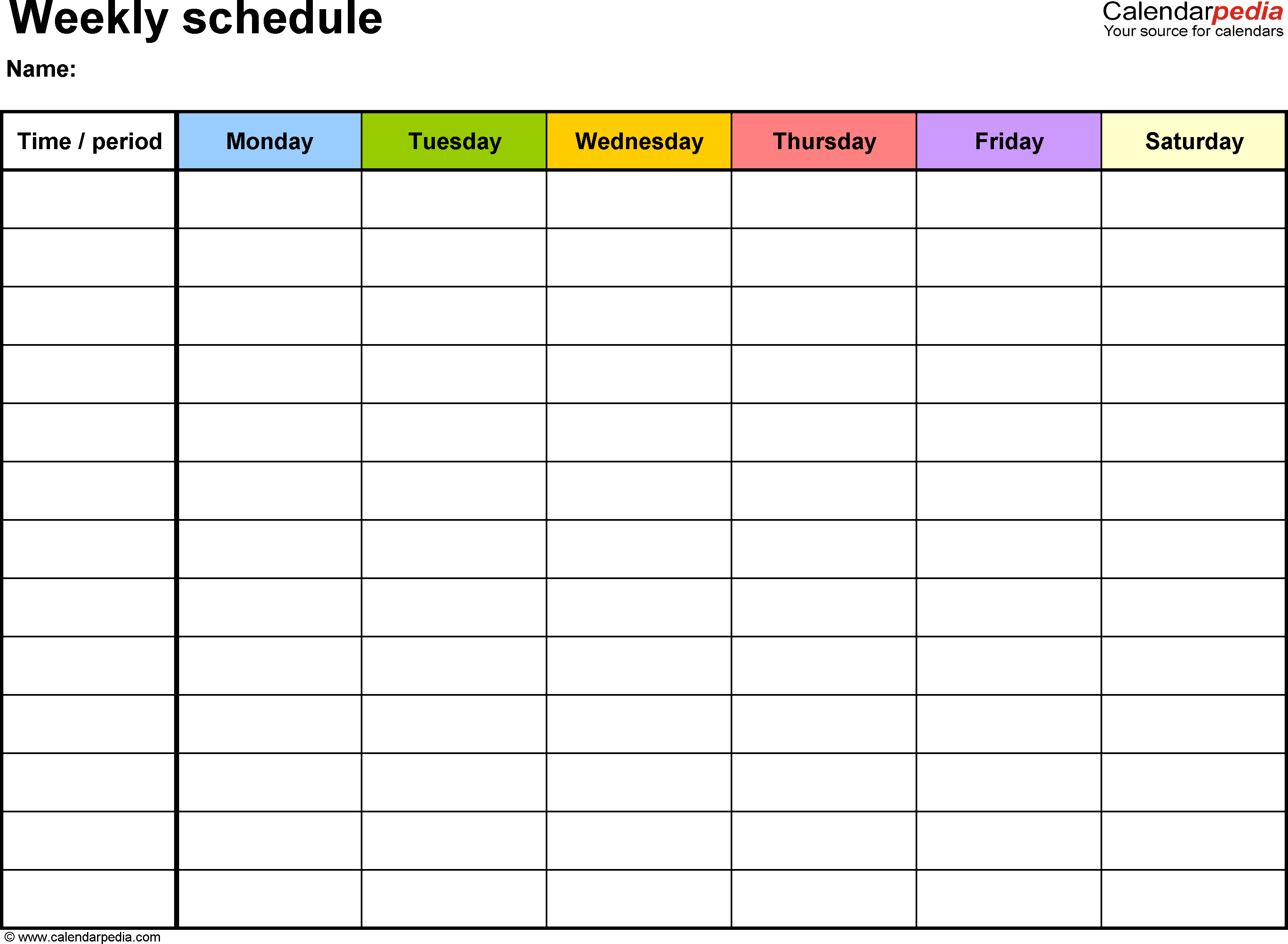 Schedule Template Printable Calendar Maker Custom Timetable - Printable Sign Maker Online Free
