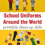 School Uniforms Around The World: Printable Dress Up Paper Dolls   Free Printable Paper Dolls From Around The World