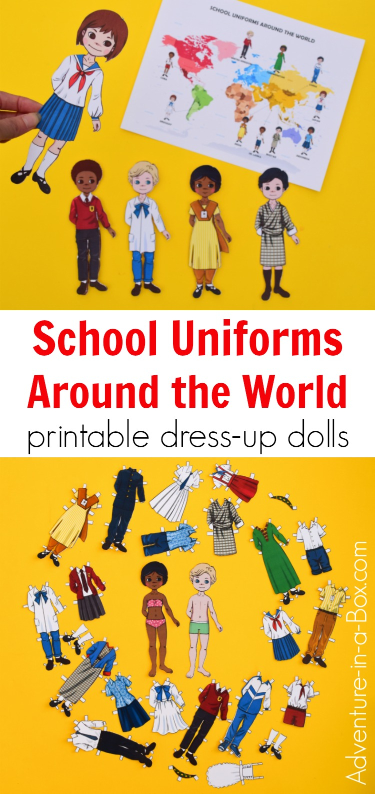 School Uniforms Around The World: Printable Dress-Up Paper Dolls - Free Printable Paper Dolls From Around The World