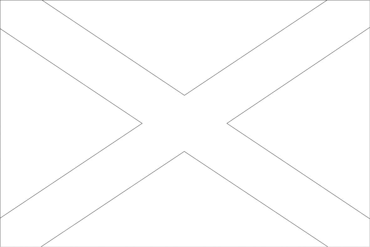 Scotland Flag Coloring Page - Free Printable Scottish Flag