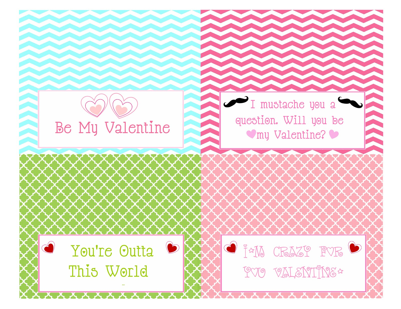 Scrap N Teach: Valentine's Treat Bag Topper (Free Printables) - Free Printable Bag Toppers
