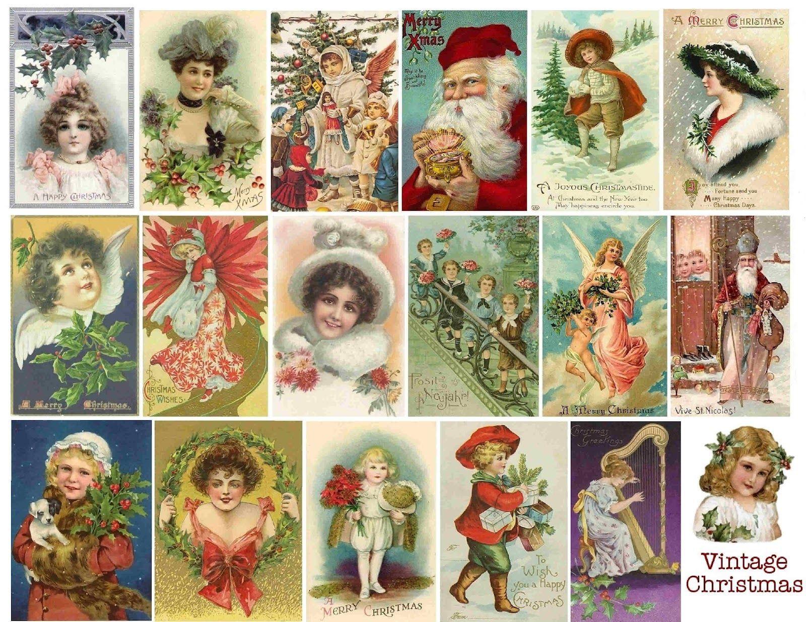 Scrapbook+Christmas+Vintage+Free+Printable   Free Vintage Printable - Free Printable Christmas Photo Collage